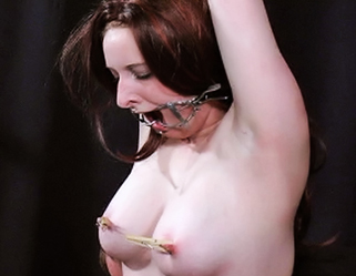 Bound and gagged10  scott ties monika up and places a ball gag in her mouth and whips her pale flesh. Scott ties Monika up and places a ball gag in her mouth and whips her pale flesh