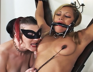 Dildo ride  maxines kinky friends whip her into submission and force her to ride a dildo. Maxine�s kinky friends whip her into submission and force her to ride a dildo